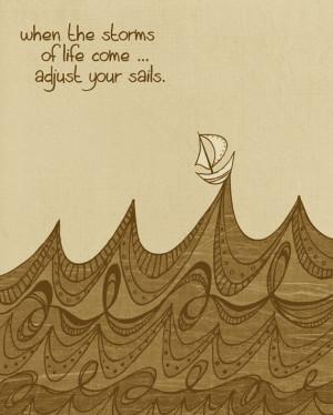 Pessimists curse the wind. Optimists adjust the sails.