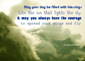May your day be filled with blessing blessing quote