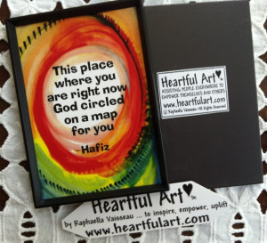 This Place Where You Are HAFIZ Inspirational Quote Motivational Print ...