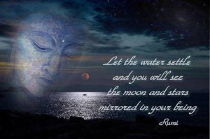 ... settle and you will see the moon and stars mirrored in your being