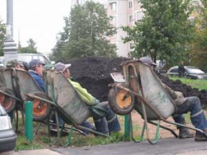 Construction Workers on Break