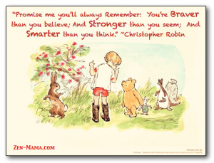 loved reading and watching Winnie the Pooh as a child.