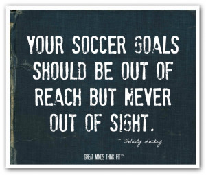Your soccer goals should be out of reachbut never out of sight ...