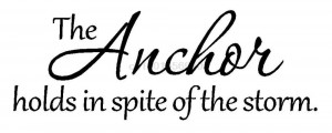 THE ANCHOR vinyl wall stickers wall art stickers inspirational ...