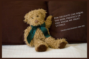 Bear Delight - Featuring Arnold, Our Beloved Bear - A Quillcards Ecard
