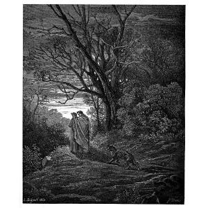 ... Doré - Dante Alighieri - Inferno - Plate 4 (Dante meets Virgil