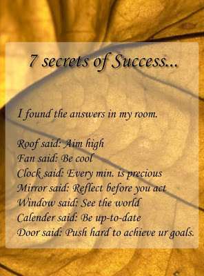 Thought for the day-7secrets of success