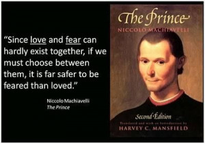Machiavelli quotes fear and love