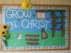 Spring Bulletin Board: Grow in Christ