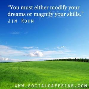 SocialCaffeine Quote of the Day - Jim Rohn