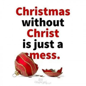 Christmas without Christ...