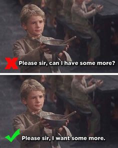 Oliver's Request - Oliver Twist | 14 Famous Movie One-Liners You've ...