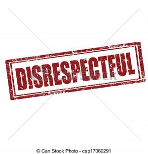 Vector - Disrespectful-stamp - stock illustration, royalty free ...