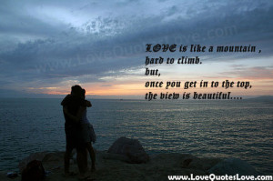 love is like a mountain