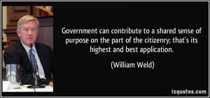 Government can contribute to a shared sense of purpose on the part of ...