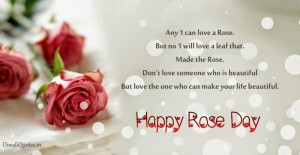 day 6 short rose day status 2015 for whatsapp facebook