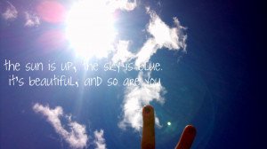 blue, dear prudence, finger, picture, quotes, sayings, sky, summer ...