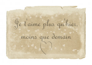... que demain english translation i love you more than yesterday and less