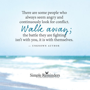Walk Away From Negative People