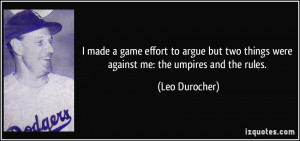 More Leo Durocher Quotes