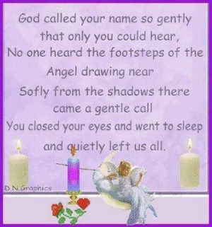 God called your name so gently