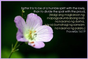 Of a Humble Spirit