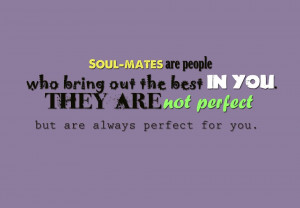 Motivational Wallpaper on Perfect: Soul-mates are people