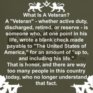 ... . Thank you for the incredible sacrifices you have made for us