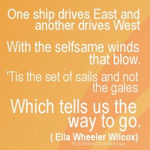 Positive Atitude Poem by Ella Wheeler Wilcox with image