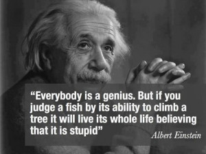 Albert Einstein – Everybody is a genius