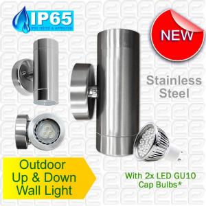 1KG Stainless Steel LED Up & Down Light Fitting - Indoor and Outdoor ...