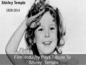 Film Industry Pays Tribute To Shirley Temple
