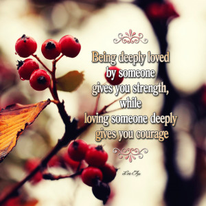 Lao Tzu inspirational ipad wallpaper - Being deeply loved by someone ...