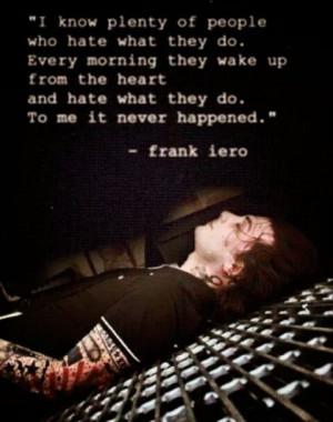 Frank Iero quote
