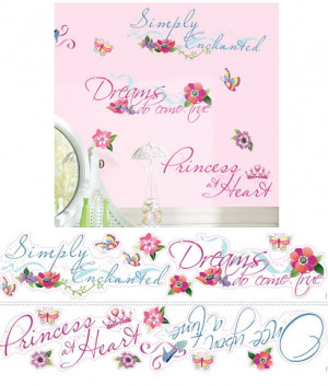 Disney Princess Quotes Wall Stickers - Wall Sticker Outlet