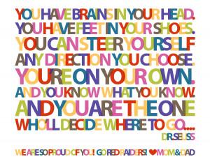 Dr Seuss Graduation Quotes