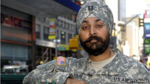 Sikh soldiers such as Army Cpt Kamaljeet Singh Kalsi, photographed in ...