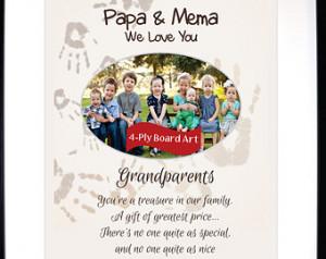 Custom Christmas Gift For Grandpare nts To Papa Nana Mema Personalized ...