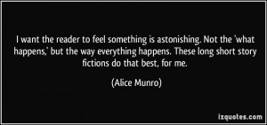 want the reader to feel something is astonishing. Not the 'what ...