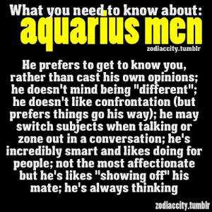 Aquarius Men.