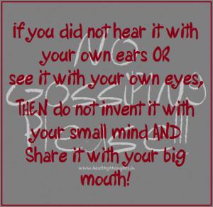 No Gossiping!!!
