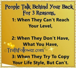 Talk Behind Backs Quotes /Sayings