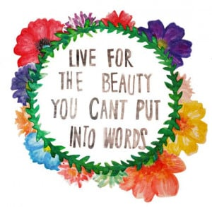 Flower Crown Quote Print