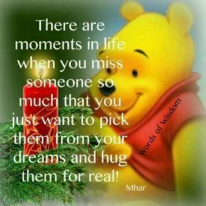 Missing loved one pooh christmas