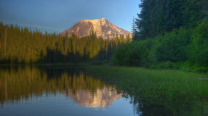 wallpaper, lake, ollalie, washington, adams, nature, mount, background