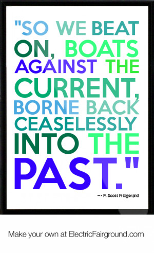 Scott Fitzgerald Framed Quote