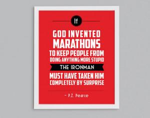 ... 140.6 Retro Print - Lake Placid Sports Quote Art - Triathlete Gift