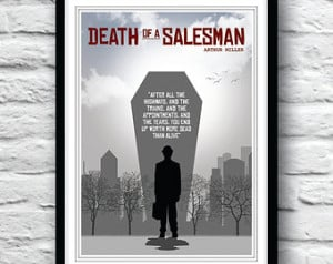 Death of a Salesman, Arthur Miller, Quote poster, Wall Decor ...