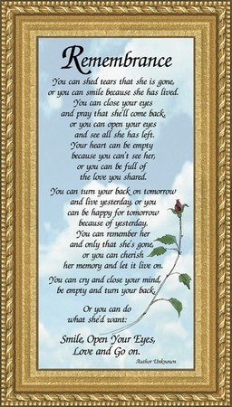 Remembrance Sympathy Poem for Female