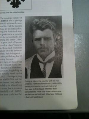 Sexy dead psychologist: Hermann Rorschach (inventor of the inkblot ...